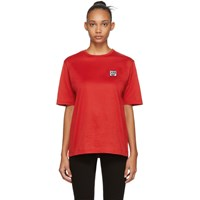 Etudes Studio Red Keith Haring Edition Unity Patch T Shirt