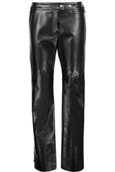 Acne Studios Svanborg Embellished Faux Leather Straight Leg Pants Black