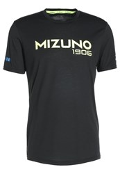 Mizuno Heritage Sports Shirt Black Black