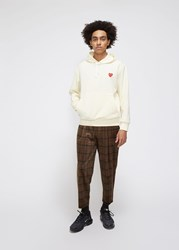 Comme Des Garcons Red Heart Hooded Sweatshirt Ivory