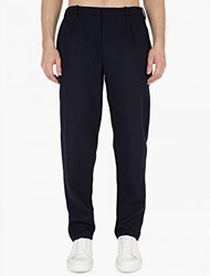 Raf Simons Charcoal Slim Fit Wool Trousers