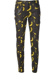Kenzo Abstract Print Skinny Jeans Grey