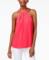 Trina Turk Quince Keyhole Halter Top Soiree Pink