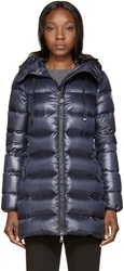 Moncler Navy Lightweight Down Suyen Coat