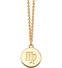Astley Clarke Virgo Zodiac 18Ct Yellow Gold Plated Necklace