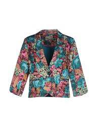 Darling Suits And Jackets Blazers Women Emerald Green