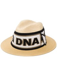 Dolce And Gabbana Flat Cap In Straw Neutrals