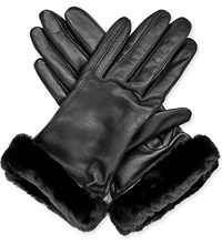 Ugg Classic Leather Smart Gloves Blk
