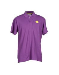 Humor Topwear Polo Shirts Men Purple