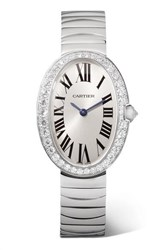 Cartier Baignoire 24.5Mm Small 18 Karat White Gold And Diamond Watch Silver