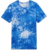 Schiesser Georg Tie Dyed Cotton Jersey T Shirt Blue