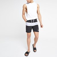 Wrangler Black Stripe Swim Shorts