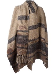 Etro Striped Cape Brown