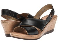 Lobo Solo Cindy Black Leather Women's Sandals