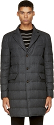 Moncler Grey Quilted Wool Mael Coat