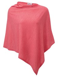 Pure Collection Featherweight Cashmere Poncho Rose Pink