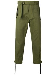 Ktz Belted Trousers Green