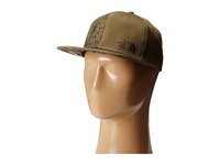 The North Face Stitch Right Flat Brim Hats Burnt Olive Green Black Ink Green Caps