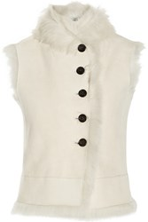 Joseph New Lucy Shearling Gilet White