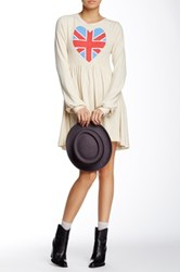 Wildfox Couture British Babe London Babydoll Dress White