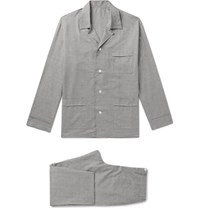 Anderson And Sheppard Prince Of Wales Checked Brushed Cotton Pyjama Set Gray