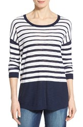 Women's Two By Vince Camuto Stripe Scoop Neck Sweater