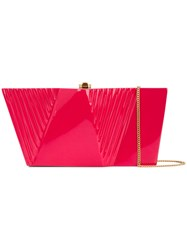 Rocio Wasabi Sculpted Box Clutch Pink