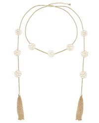 East Rose Lariat Necklace