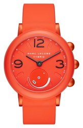 Marc Jacobs Riley Hybrid Rubber Strap Smart Watch 44Mm Coral
