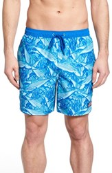 Vineyard Vines Chappy Bonefish Print Swim Trunks Turquoise