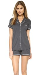 Cosabella Bella Short Sleeve Boxer Pj Set Anthracite