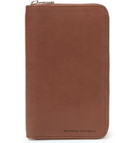 Brunello Cucinelli Leather Travel Wallet Tan