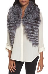 Love Token Women's Genuine Fox Fur Vest Natural