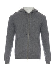 Vince Hooded Zip Up Cashmere Sweater