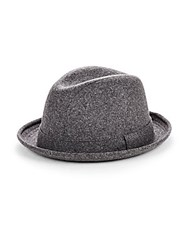 Saks Fifth Avenue Solid Wool Blend Fedora Black