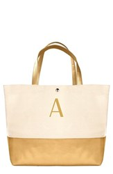 Cathy's Concepts Personalized Canvas Tote Metallic Gold A