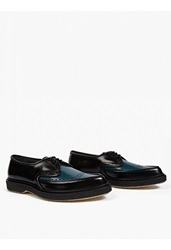 Adieu Black Leather Type 52' Pointed Brogues