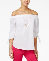 Xoxo Juniors' Off The Shoulder Top White