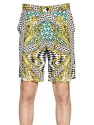 Just Cavalli Miami Groove Printed Twill Shorts