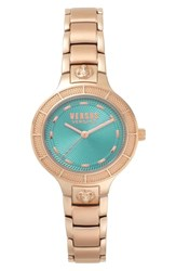 Versus By Versace Claremont Bracelet Watch 32Mm Rose Gold Green Rose Gold