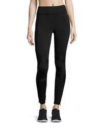 Michi Moto Zip Performance Legging Black