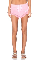 Wildfox Couture Fringe Gym Short Pink