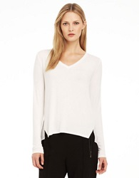 Kenneth Cole Jo Layered Knit Top White