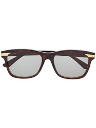 Cartier Square Frame Sunglasses Brown