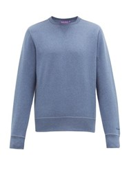 Ralph Lauren Purple Label Madison Spa Cotton Blend Sweatshirt Blue
