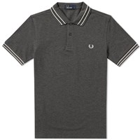 Fred Perry Tramline Tipped Polo Grey