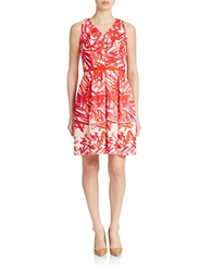 Taylor Belted Fit And Flare Dress Candy Almond