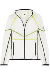 Tory Sport Striped Ripstop Hooded Jacket White
