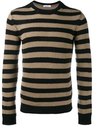 Valentino Striped Jumper Black