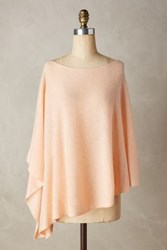 Anthropologie Cashmere Poncho Peach